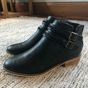 BNIB Black Booties - are a 7 but fit like a 6.5.